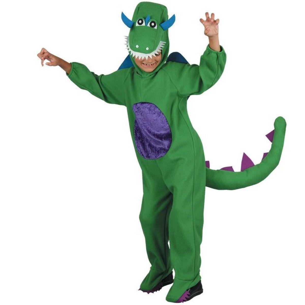 Detský kostým na karneval Dinosaurus 120 - 130 cm