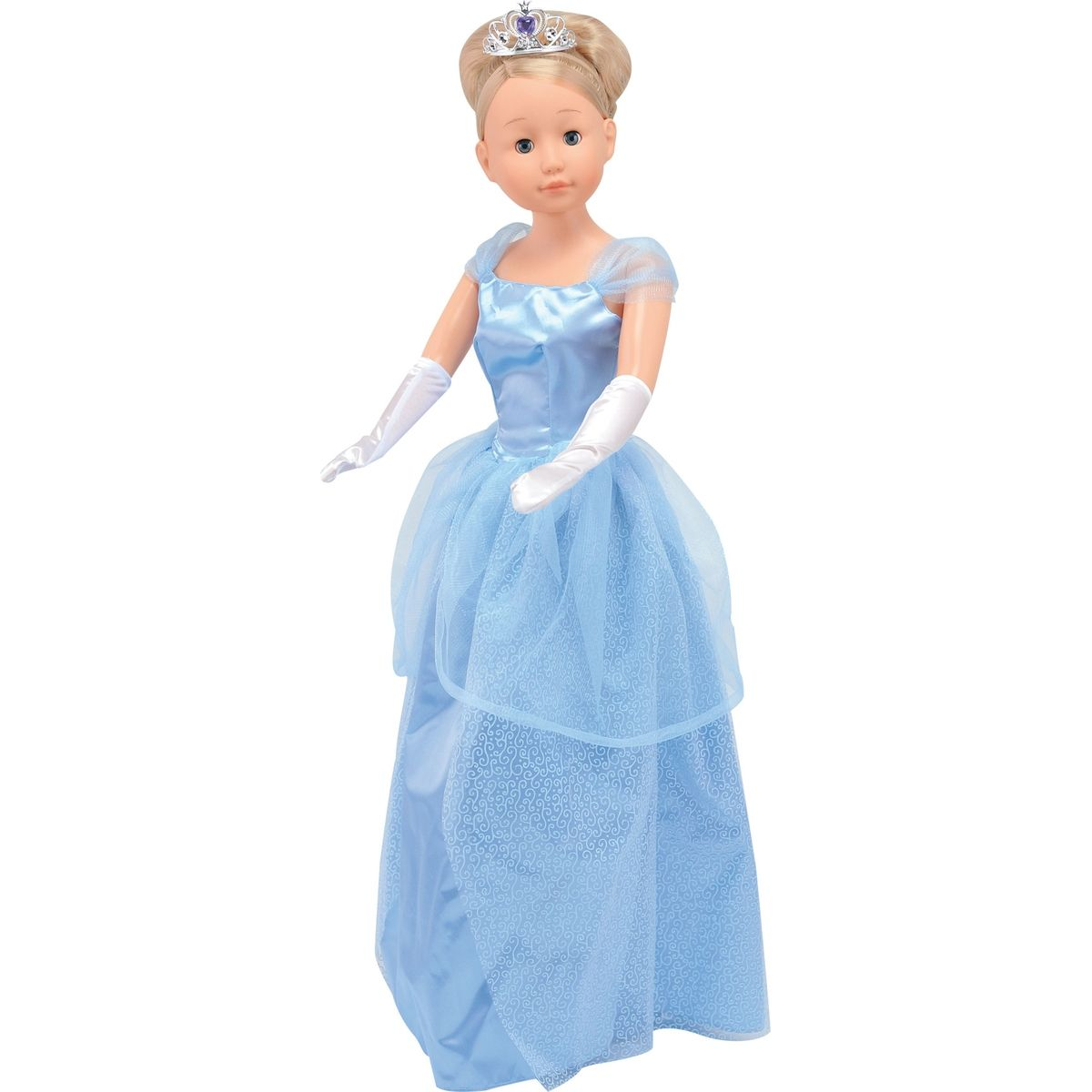 Dimian Panenka Bambolina Molly princezna 90cm Modré šaty