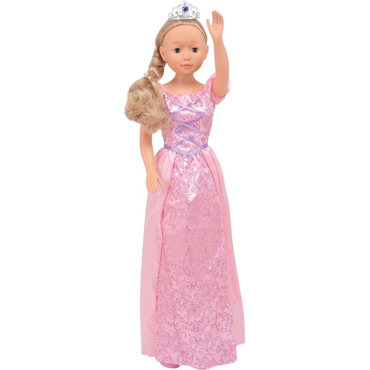 Dimian Panenka Bambolina Molly princezna 90cm Růžové šaty