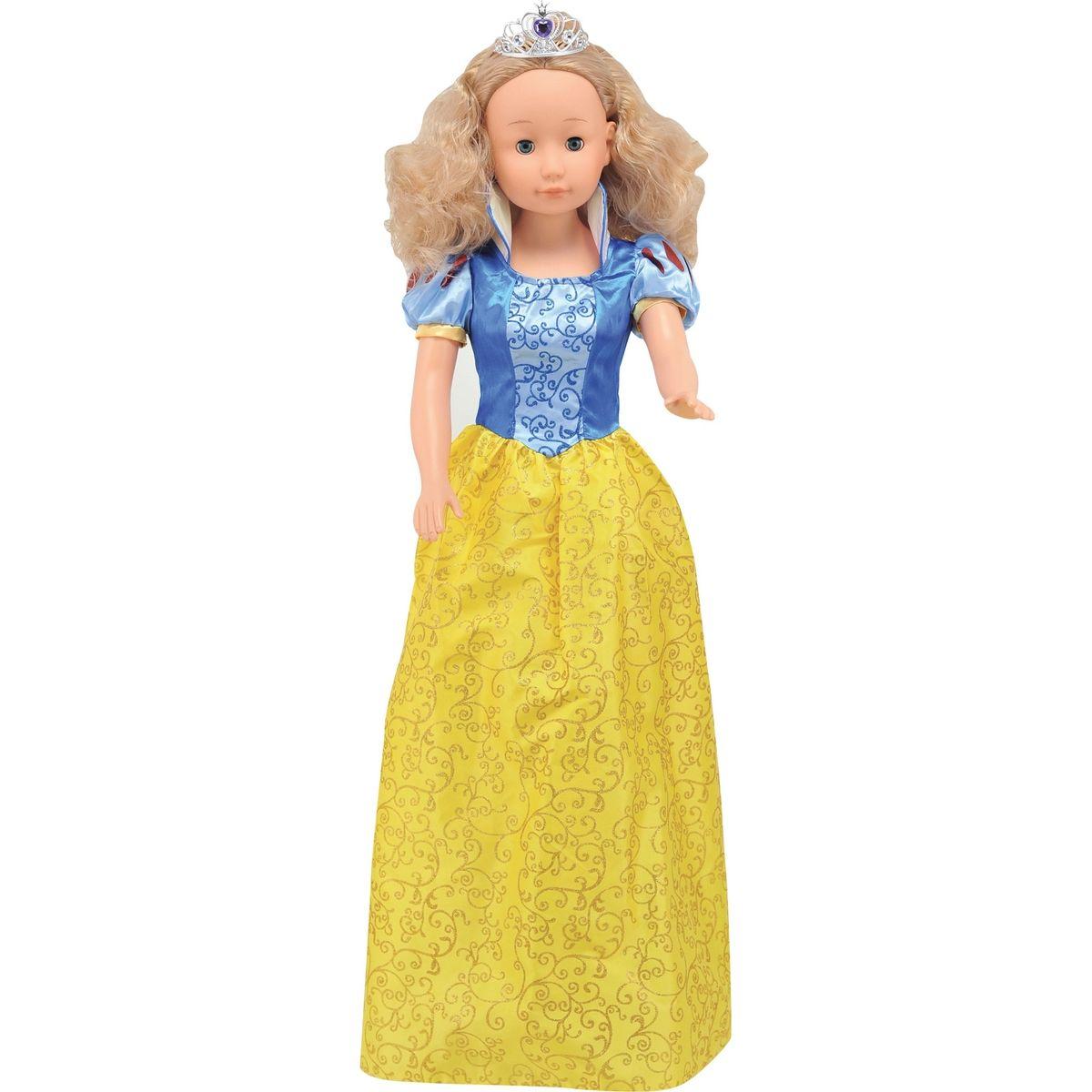 Dimian Panenka Bambolina Molly princezna 90cm Žluto-modré šaty