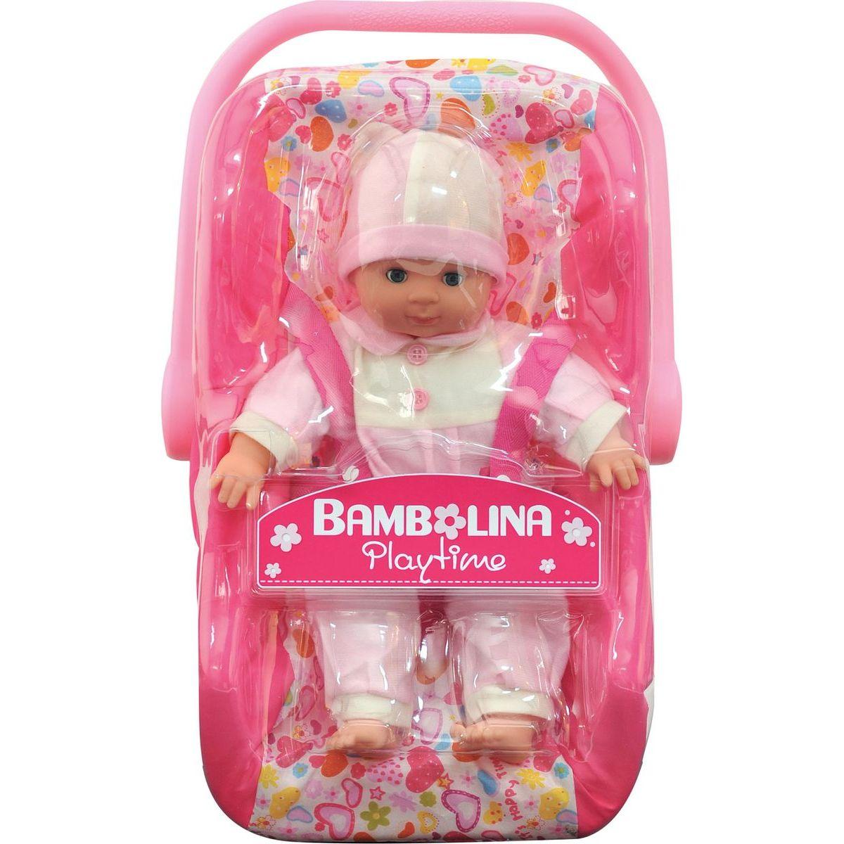 DIMIAN Bábika Bambolina s autosedačkou 30 cm