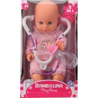 Dimian Bábika Bambolina so stetoskopom a dojčenskou fľaštičkou 33 cm
