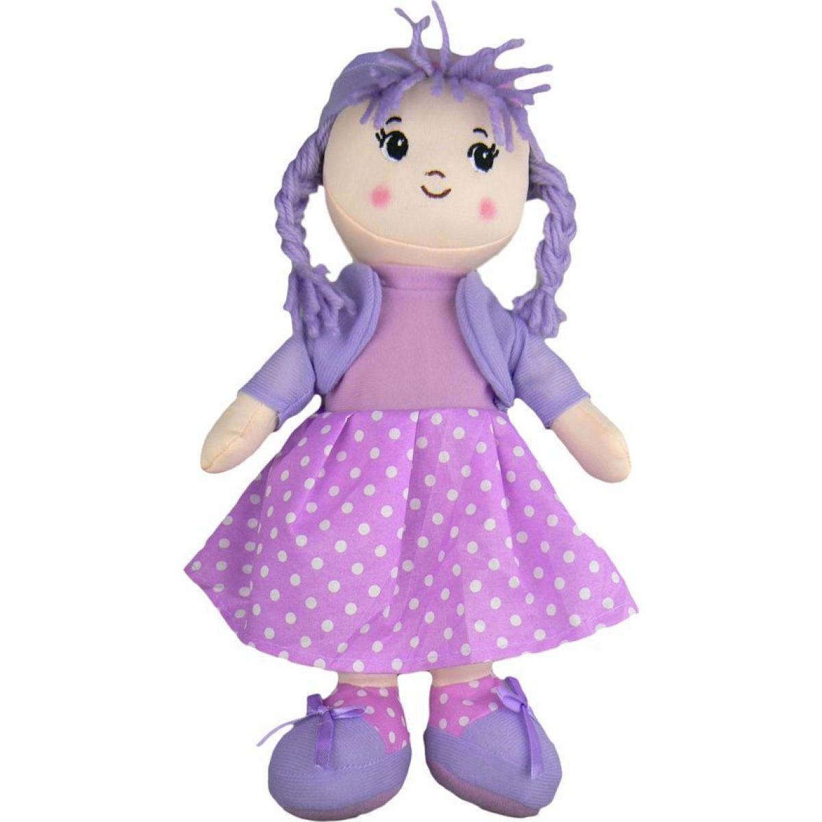 Dimian Panenka látková Moje první Bambolina šaty fialové