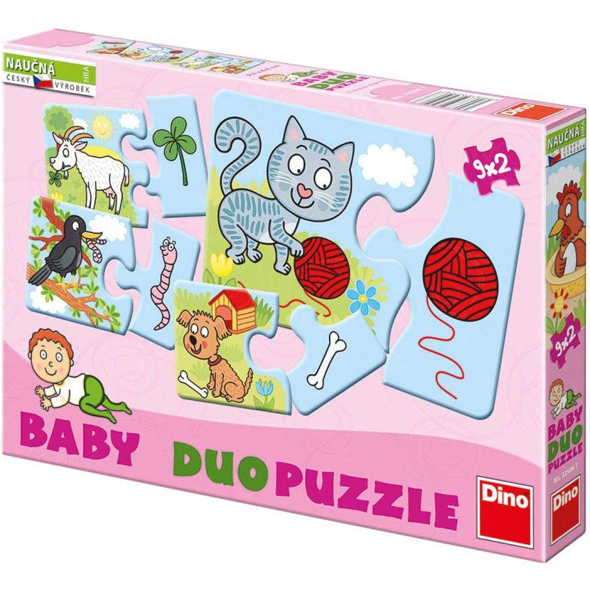 Dino 9 x 2 dílky Zvířátka BABY pro miminko