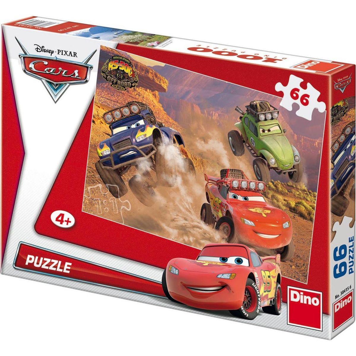 Dino Disney Cars Puzzle Off Road 66 dielikov