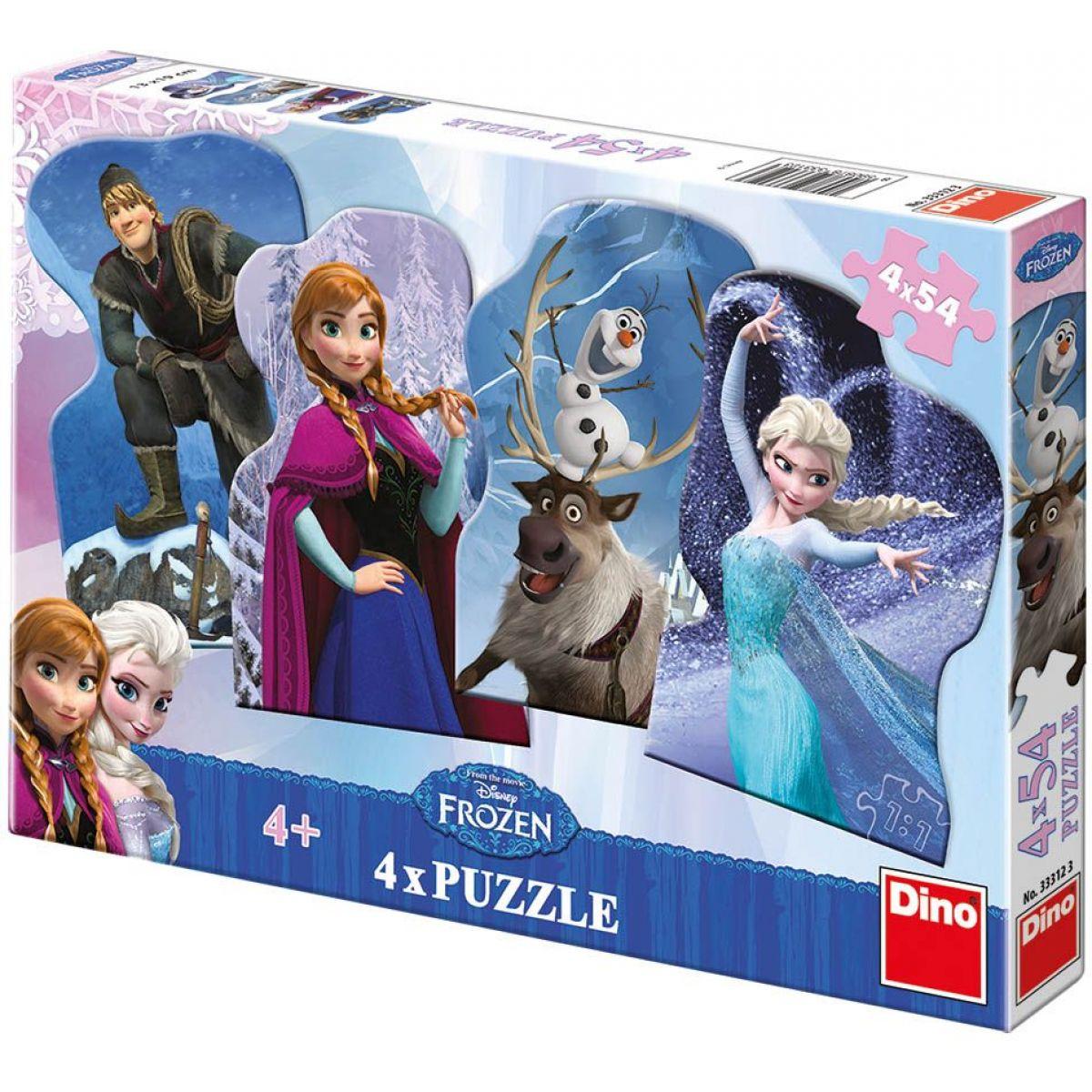 Dino Ledové království a přátelé 13x9cm v krabici 34x23x3 4x54 dílků