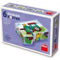 Dino Doprava 6 drevené kocky