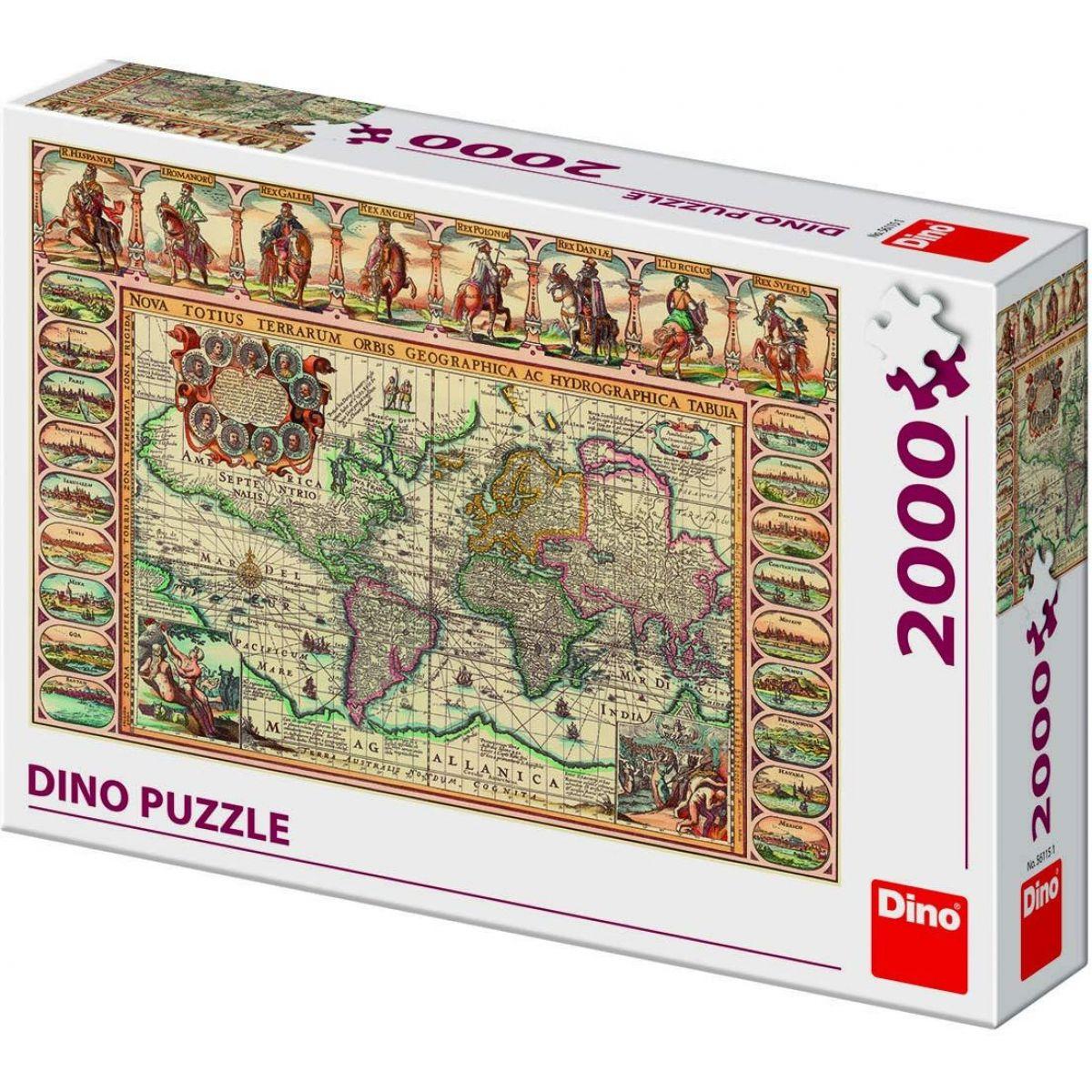 Dino Historická Mapa Sveta puzzle 2000 dielikov