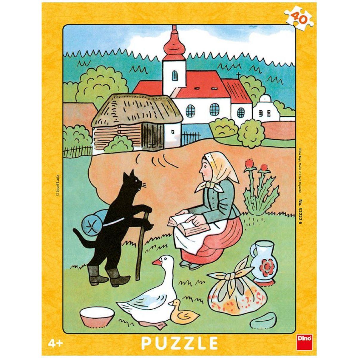 Dino Josef Lada Mikeš Na vandru doskové puzzle 40 dielikov