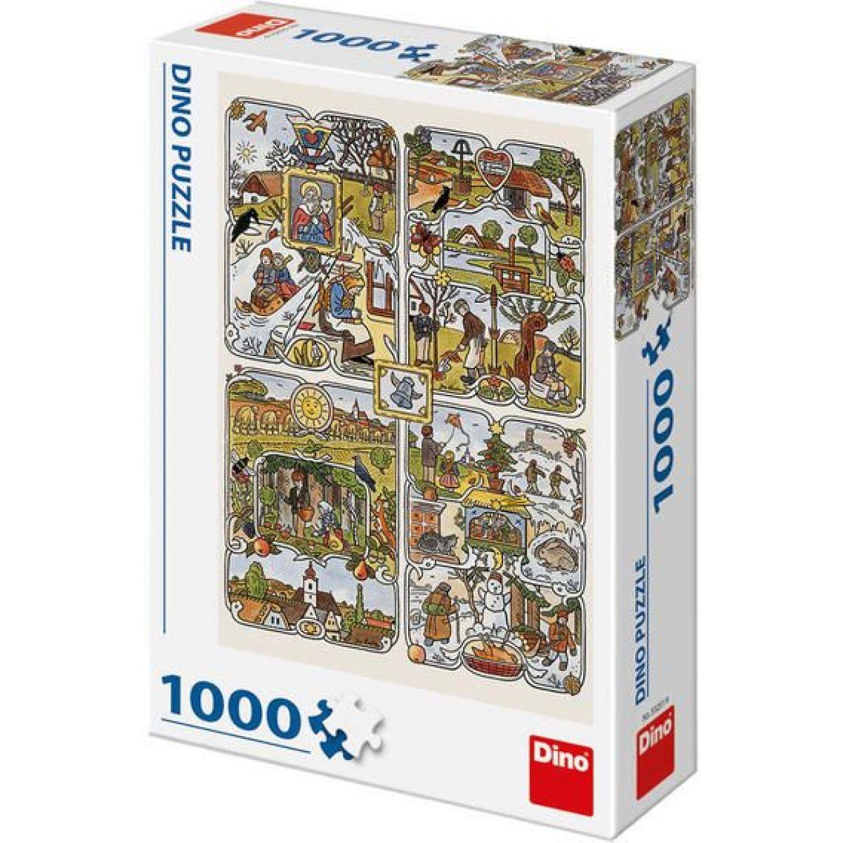 Dino Josef Lada Ročné obdobia puzzle 1000 dielikov