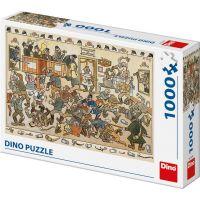 Dino Josef Lada bitka v krčme 1000 dielikov puzzle