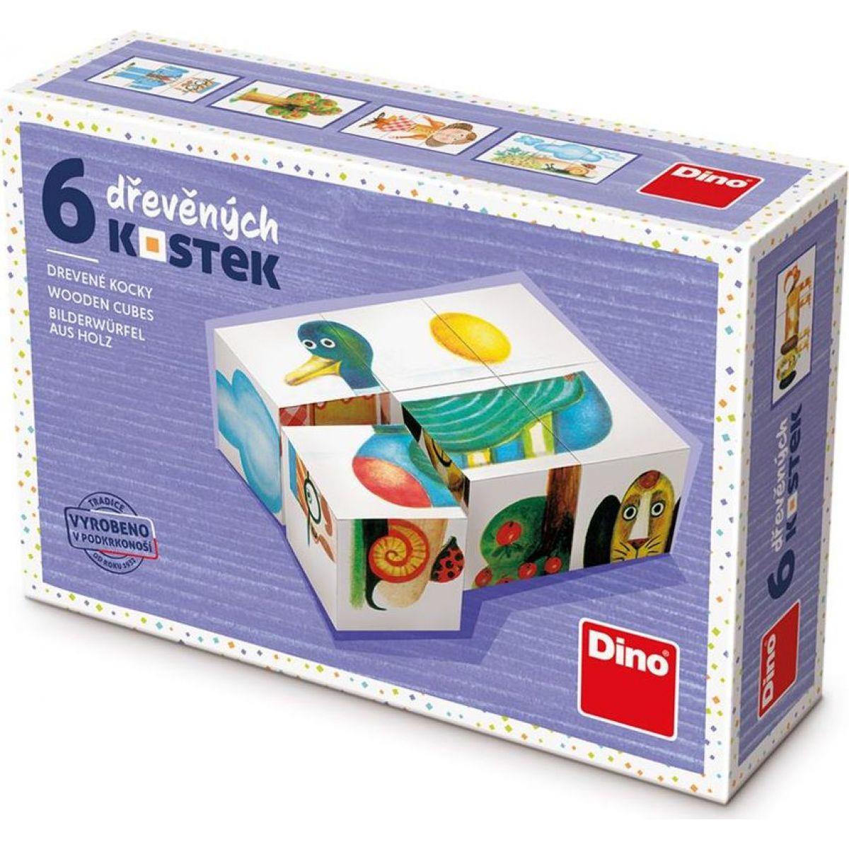 Dino Kačica 6 drevené kocky
