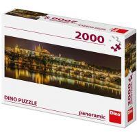 DINO Panoramatické Karlov most v noci 2000 dielikov