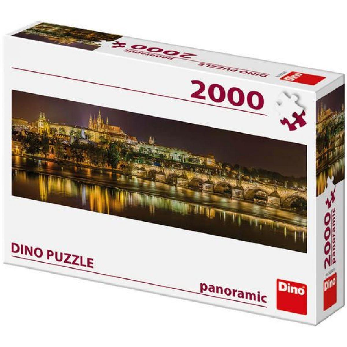 Dino Puzzle panoramic Karlov most v noci 2000 dielikov
