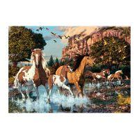 Dino Puzzle Kone v rieke 1000 dílků 2
