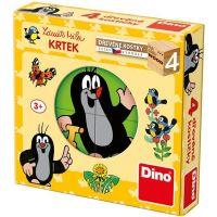 Dino Krtko drevené kocky 4 ks