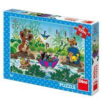 Dino Krtkova plavba XL puzzle 100 dielikov