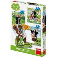 Dino Krtko na lúke baby puzzle set