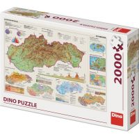 Dino Mapa Slovenska 2000 dílků puzzle
