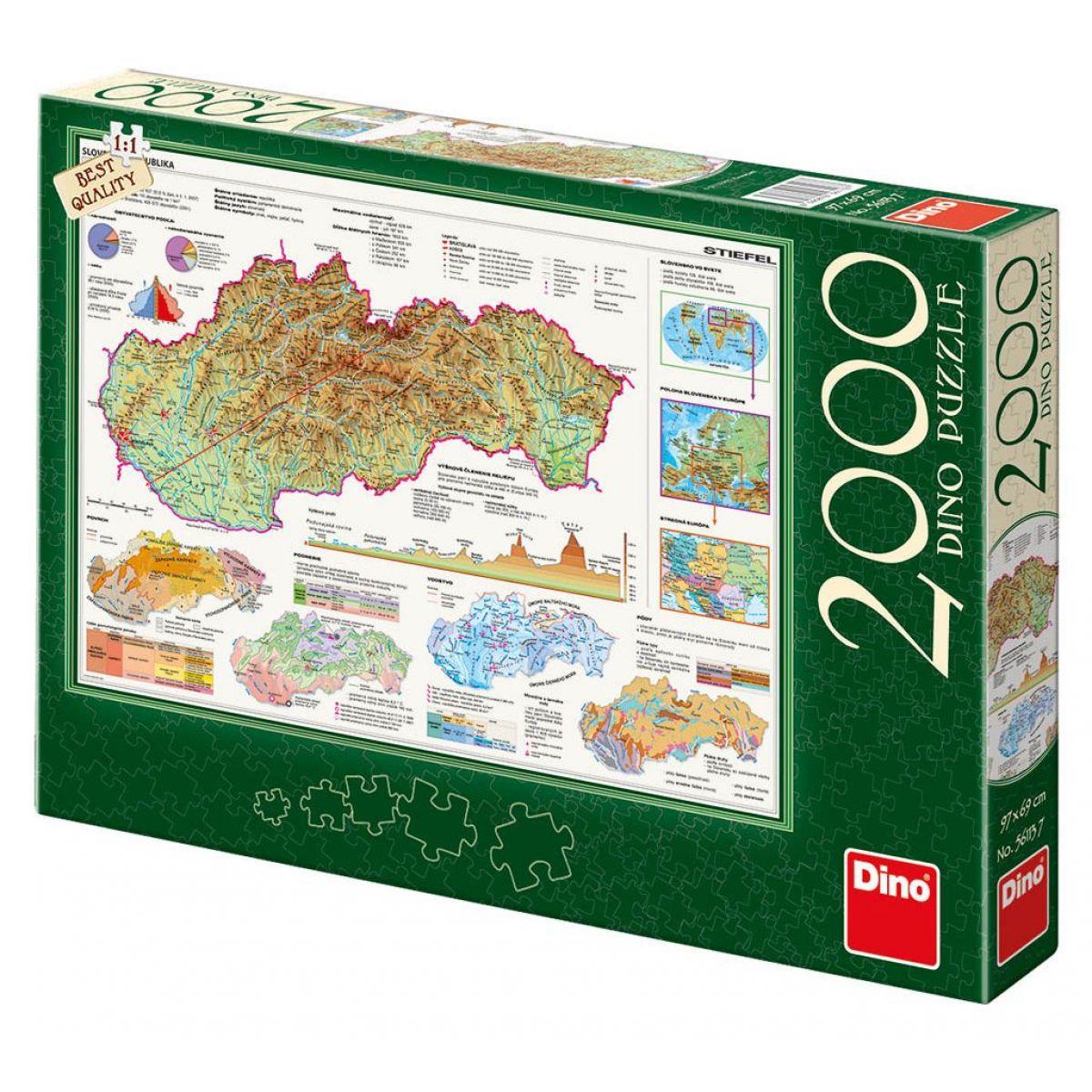 Dino Mapy Slovenska puzzle 2000 dielikov