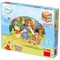 DINO Toys Medvedík Pú-kubus 12 kociek