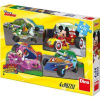 Dino Mickey a Minnie na pretekoch puzzle 4 x 54 dielikov