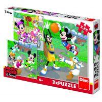 Dino Mickey a Minnie športovci puzzle 3 x 55 dielikov