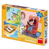 Dino Moje rozprávky puzzle 3 x 55 dielikov
