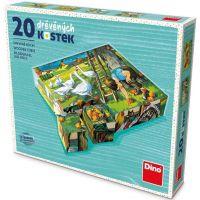 Dino Na Statku drevené kocky 20 ks