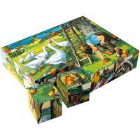 Dino Na Statku drevené kocky 20 ks 2