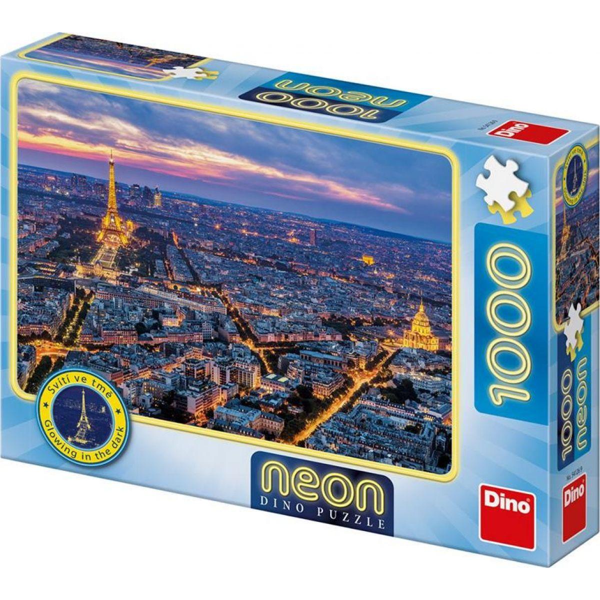 Dino Paríž v noci 100 dielikov neon puzzle