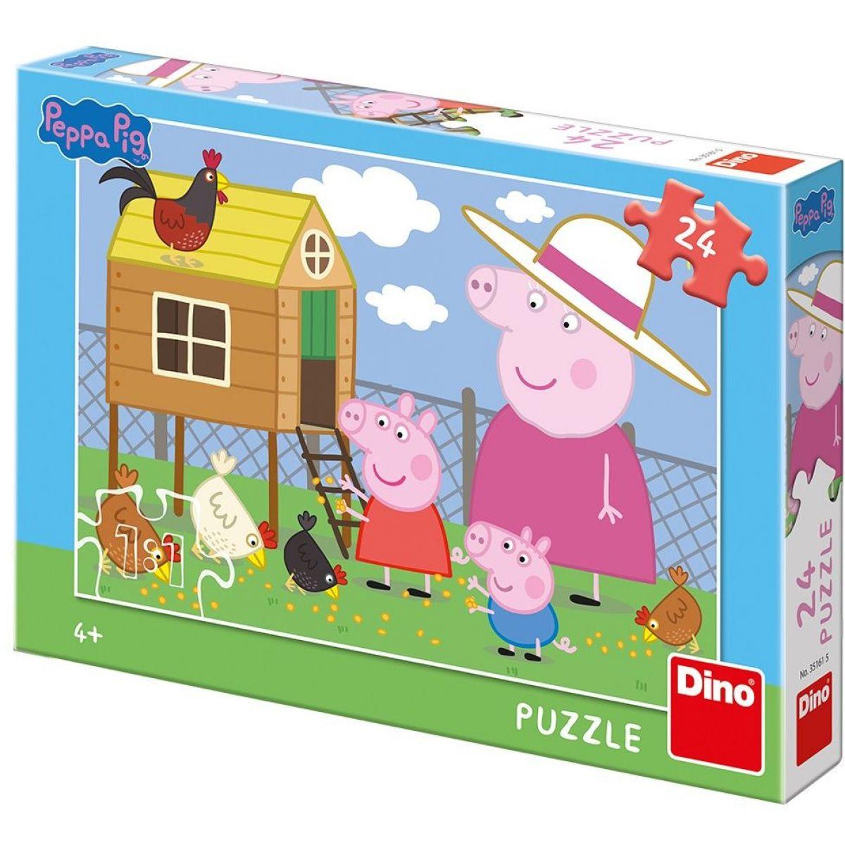 Dino Puzzle Peppa Pig Sliepočky 24 dílků