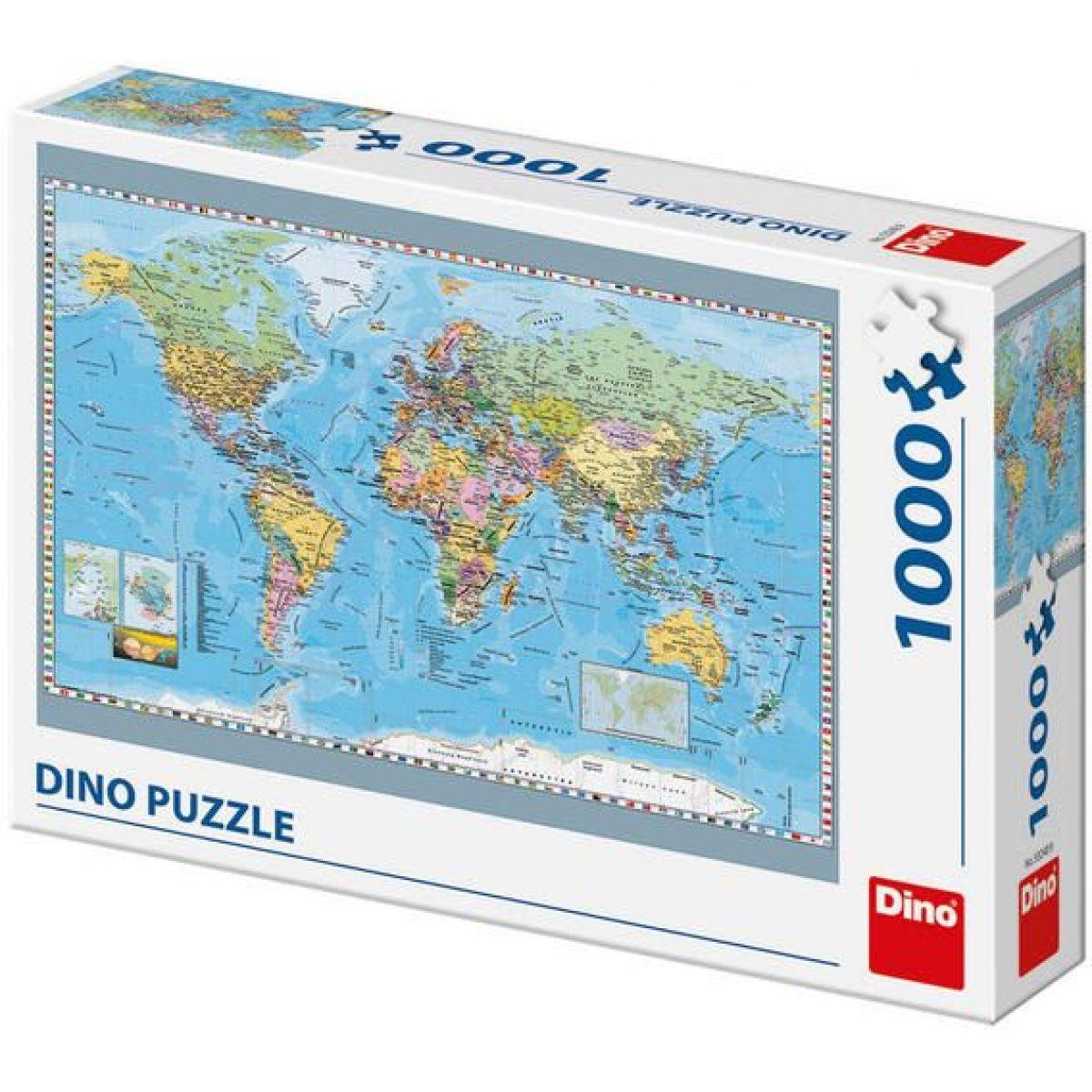 Dino Puzzle Mapa sveta politická 1000 dílků