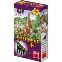 Dino Puzzle Dinosaury s figúrkou 60 dielikov - Brachiosaurus
