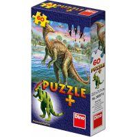 Dino Puzzle Dinosaury s figúrkou 60 dielikov - Parasaurolophus