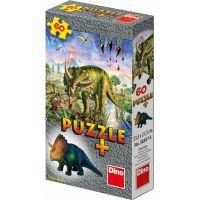 Dino Puzzle Dinosaury s figúrkou 60 dielikov - Triceratops