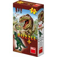 Dino Puzzle Dinosaury s figúrkou 60 dielikov - Tyrannosaurus Rex