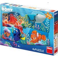Dino Puzzle Disney Dory a priatelia 4 x 54 dielikov