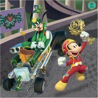 Dino Mickey a Minnie závodníci 3 x 55 dílků 3