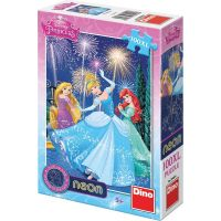 DINO Svítící 100 dílků Princezny XL