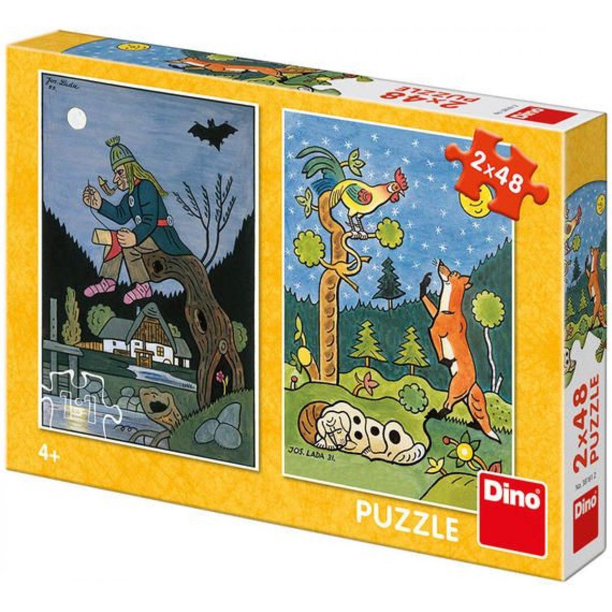 Dino Puzzle Josef Lada Pohádky 2 x 48 dielikov