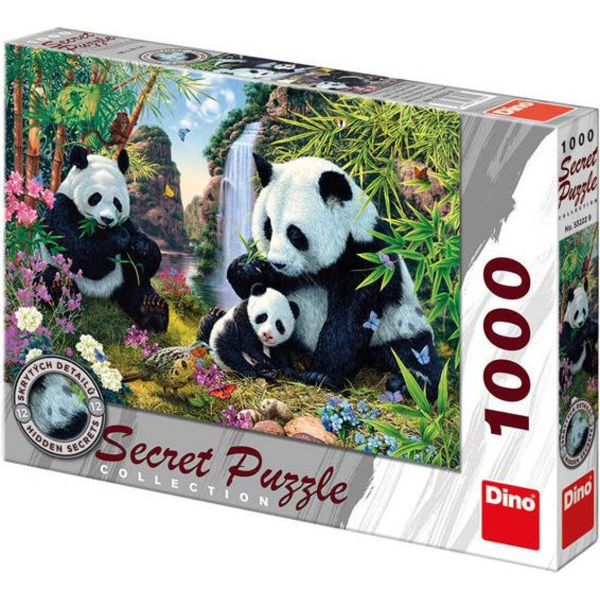 Dino SECRET COLLECTION: Pandy 1000 dielov