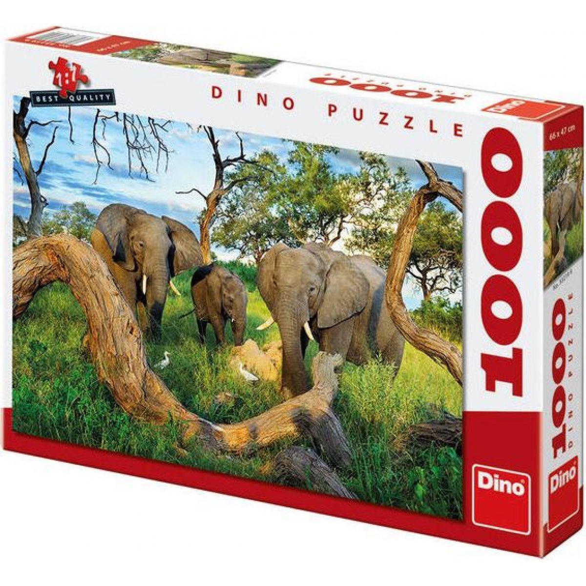 DINO 1000 dílků Sloni z Botswany