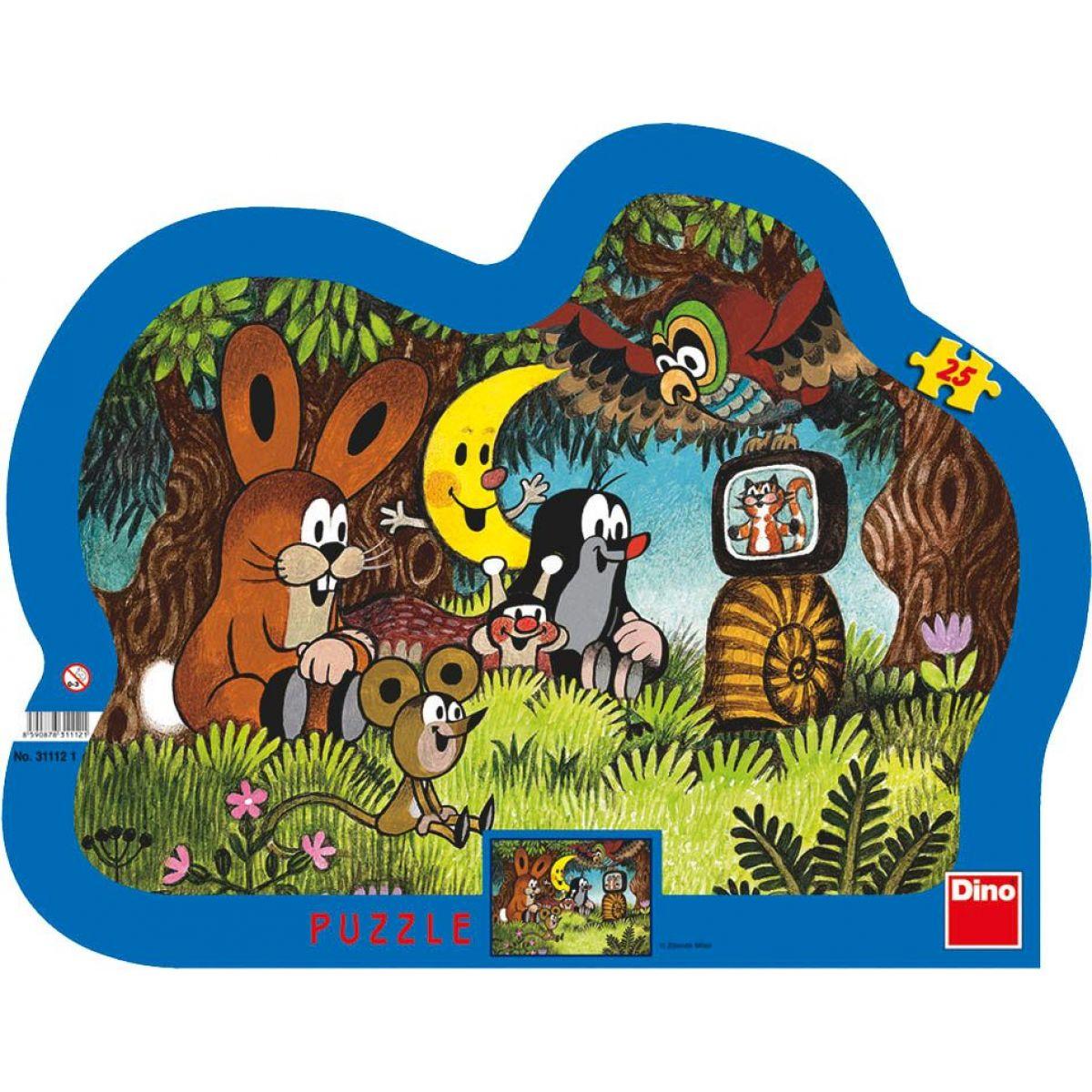 Dino Puzzle Večer pri Krtka 25d