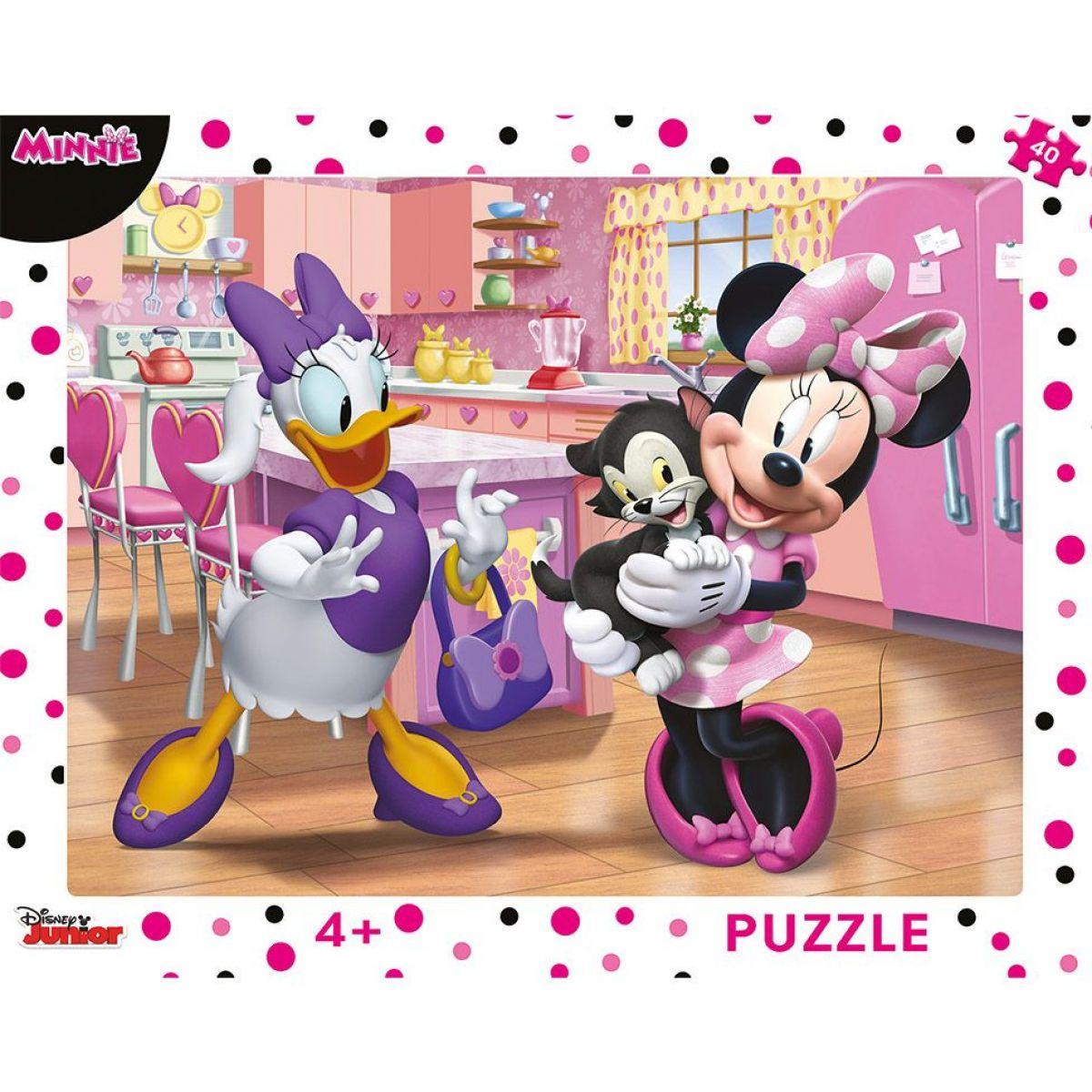 Dino Ružová Minnie doskové puzzle 40 dielikov