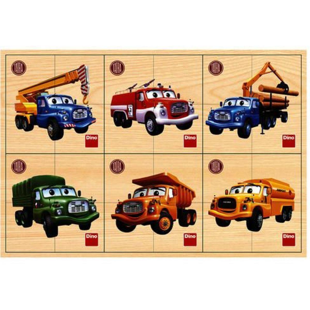 Dino tatra prvé drevené puzzle 6 x 4 dieliky