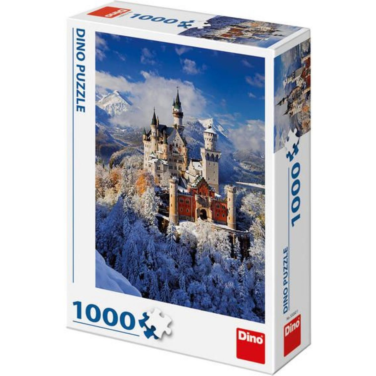 Dino Puzzle Zimný Neuschwanstein 1000 dielikov