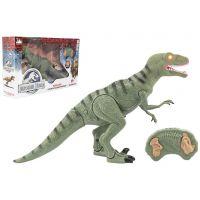Dinosaurus chodiace IC velociraptor 50 cm so zvukmi a svetlami zelený