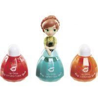 Disney Frozen Little Kingdom Make up pro princezny Anna zelená a lesky na rty