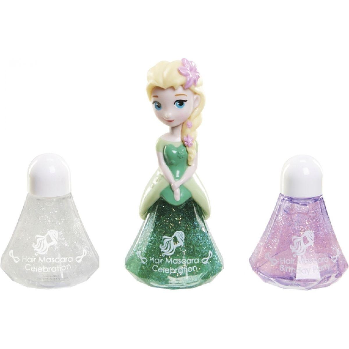 Disney Frozen Little Kingdom Make up pro princezny Elsa zelená a řasenky na vlasy